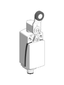 OsiSense XC XCKD2118M12 - OsiSense XCKD - inter. de pos. - levier à galet plast. -1O+1F- brusque - M12 , Schneider Electric